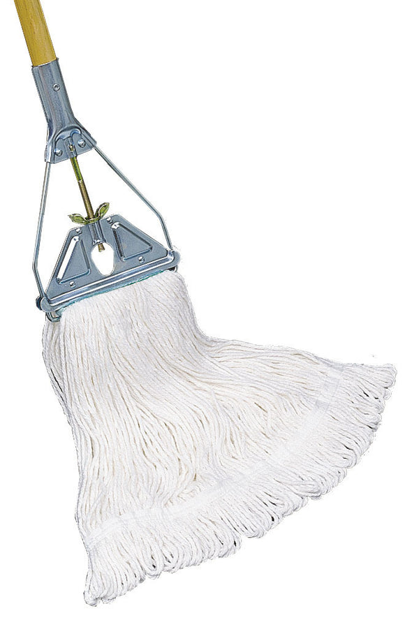 210062 - PREMIUM rayon looped end finish mop, LARGE, white (other sizes available)