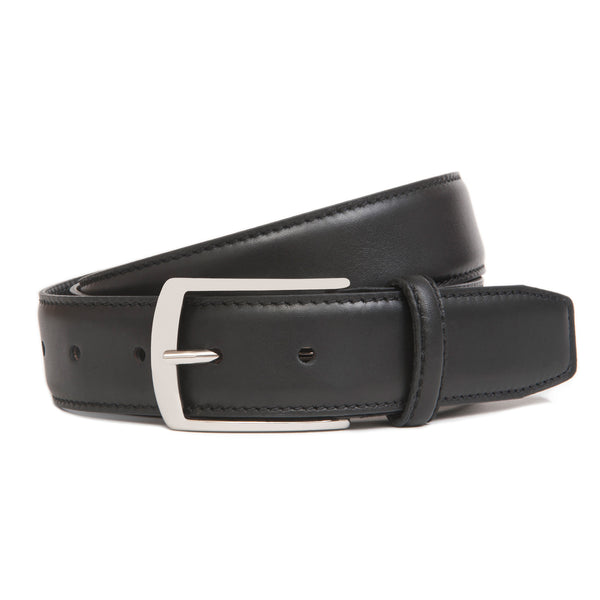 Black Full Grain Leather Belt for Men