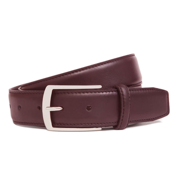 Maroon Full Grain Leather Belt for Men