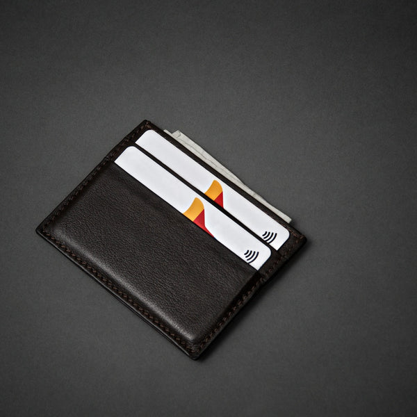 Slim Full Grain Leather Credit Card Holder for Men