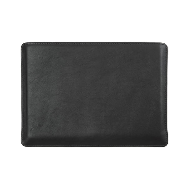 Full Grain Aniline Leather Protective Sleeve for Macbook. Black Colour.