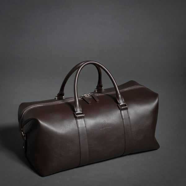 Full Grain Aniline Leather Duffle Bag For Men.
