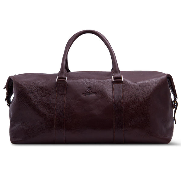 Elegant Leather Weekender Bag Made From Vegetable Tanned Leather.