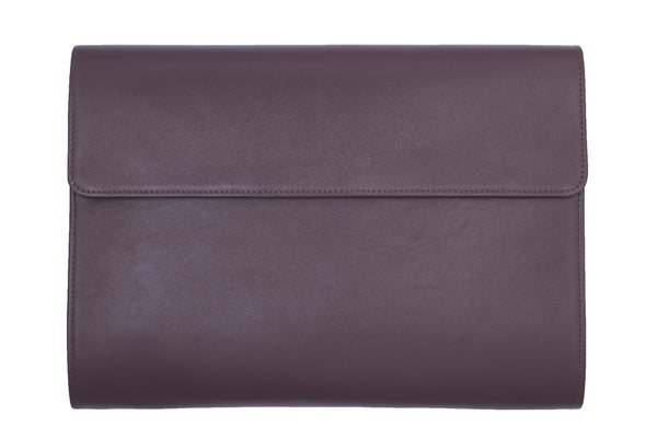 Elegant Leather Portfolio for Men Made From Full-Grain Leather. Brown Colour.