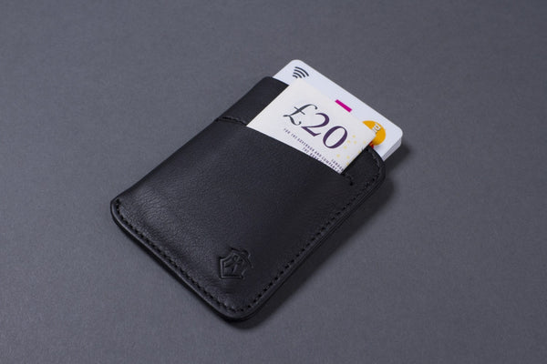 What Fits in Slim Full Grain Leather Card Wallet for Men
