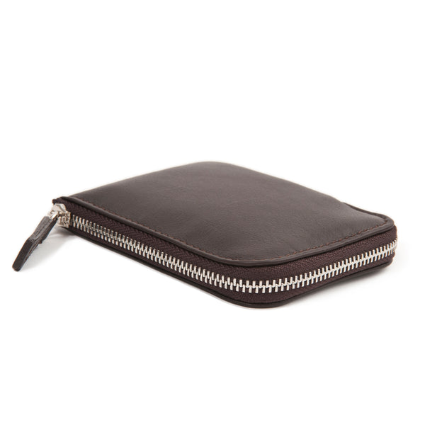 "RFiD Zip Around Leather Slim Wallet | Smart Wallet ""Easy Access"""