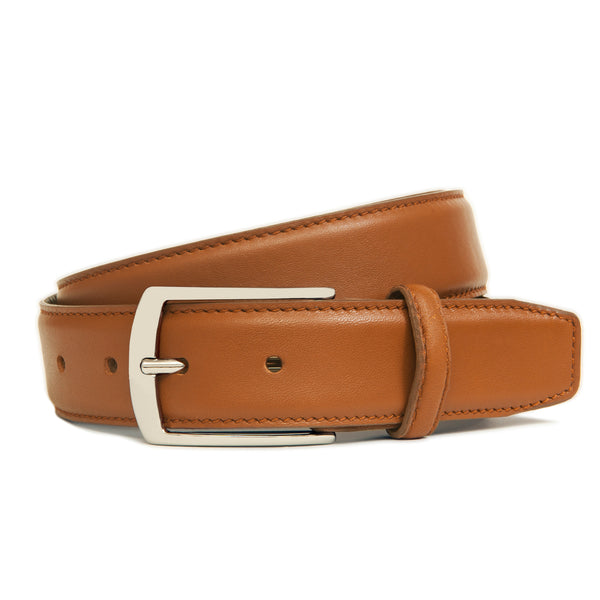 Light Brown Full Grain Leather Belt For Men