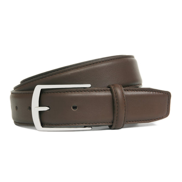 Dark Brown Full Grain Leather Belt for Men