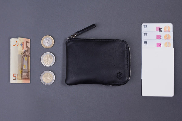 What Fits In Small Wallet Made From Full-Grain Aniline Leather.