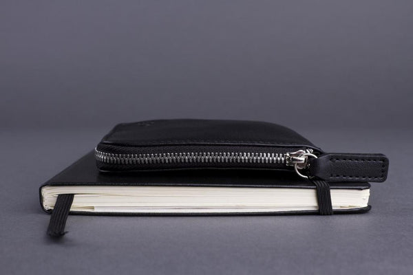 Small Wallet Made From Full-Grain Aniline Leather On The Calendar.