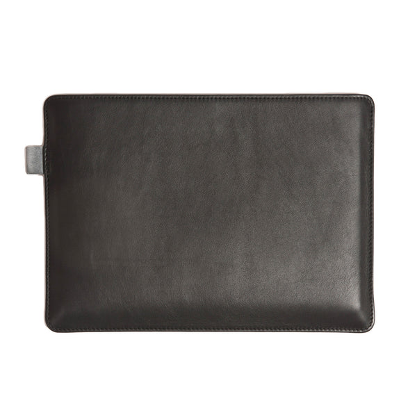 Full Grain Aniline Leather Protective Sleeve for Surface Pro. Black Colour.
