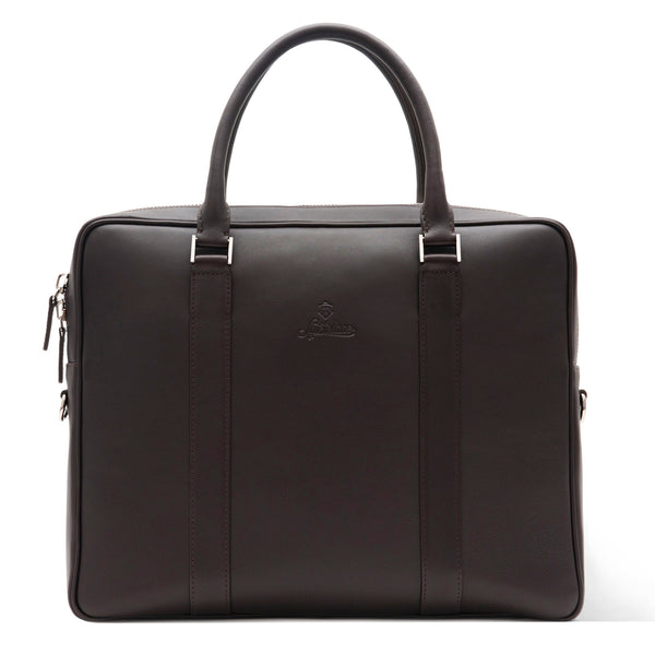 Elegant Leather Briefcase For Men Made From Full-Grain Aniline Leather.