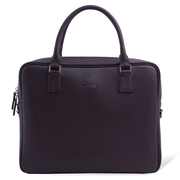 Custom Elegant Leather Briefcase For Men. Brown Colour.