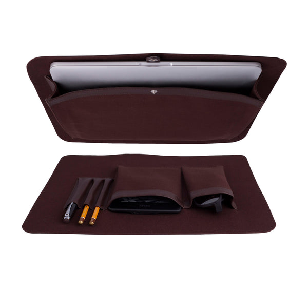 Elegant Leather Briefcase For Men Made From Vegetable Tanned Leather. Interior.