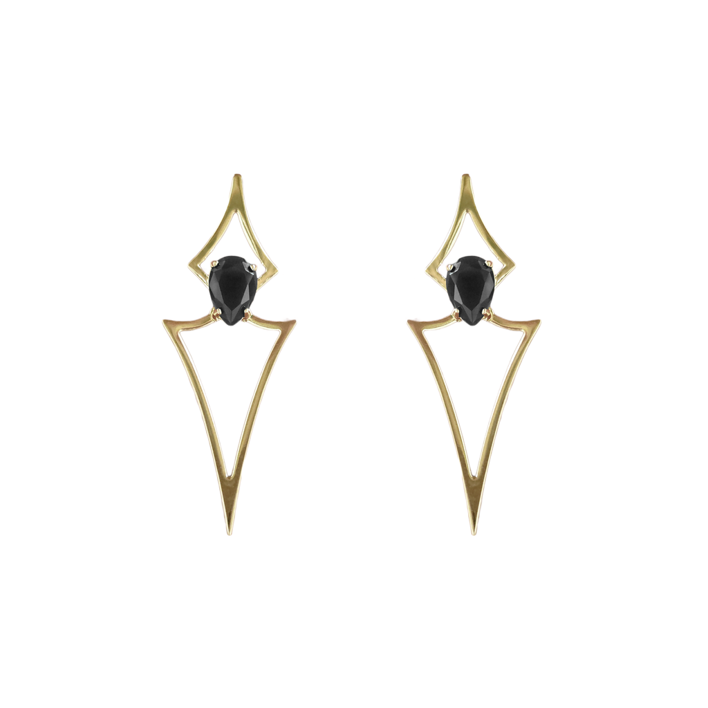 Statement earrings. Gold earrings