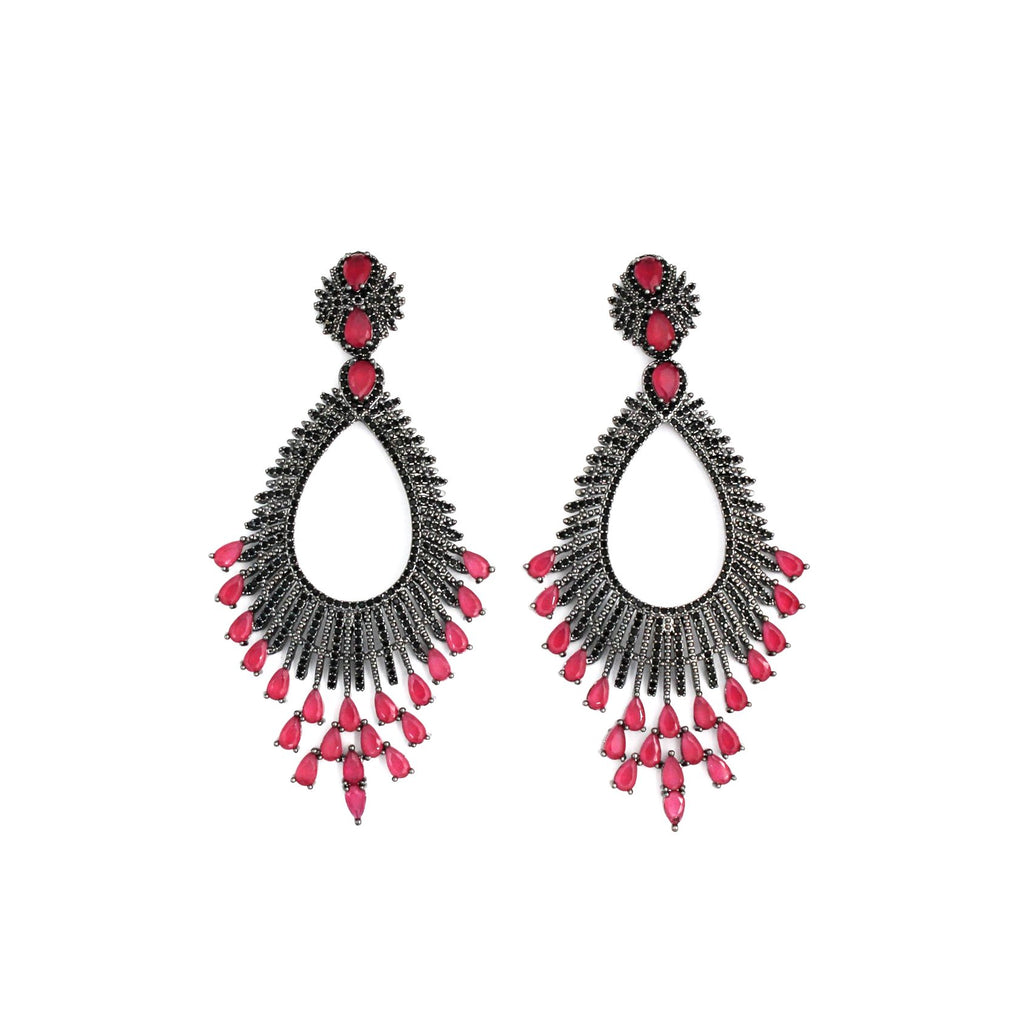 Brigitte Drops Statement Earrings