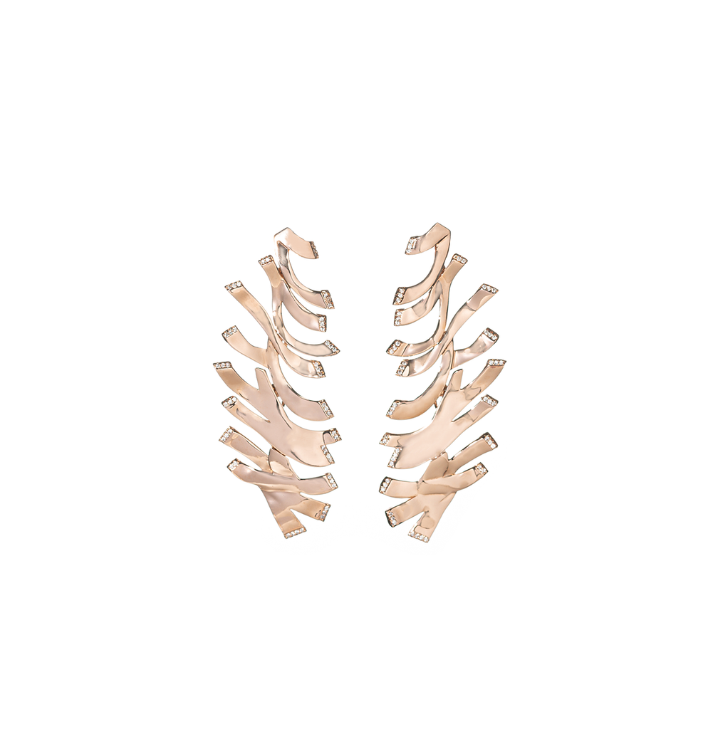 Chloe Gold Statement Earrings
