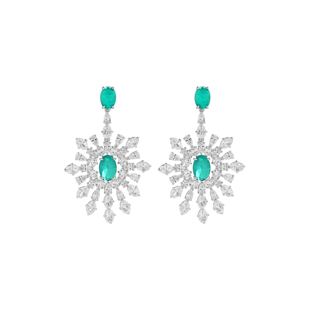 Mcristals Laila Statement Earrings rhodium