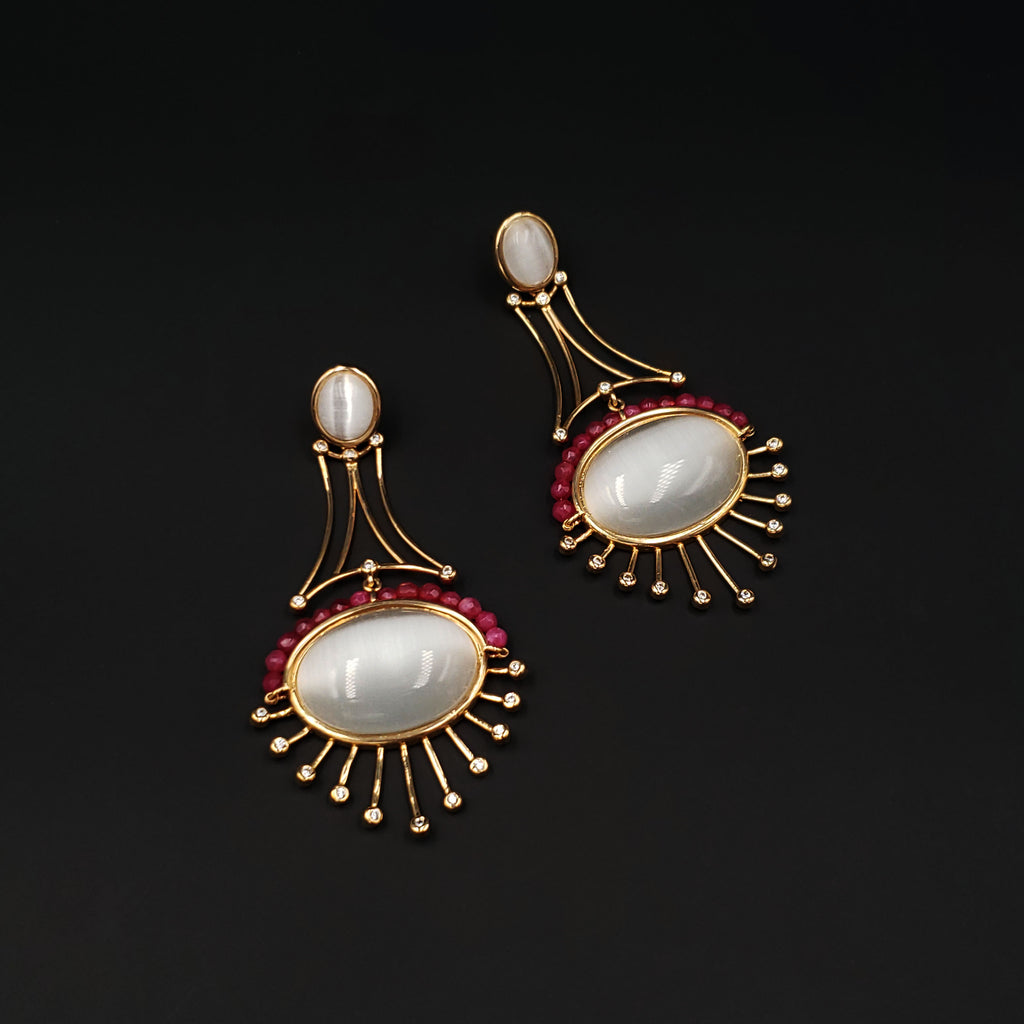 Sunny Drops Statement Earrings