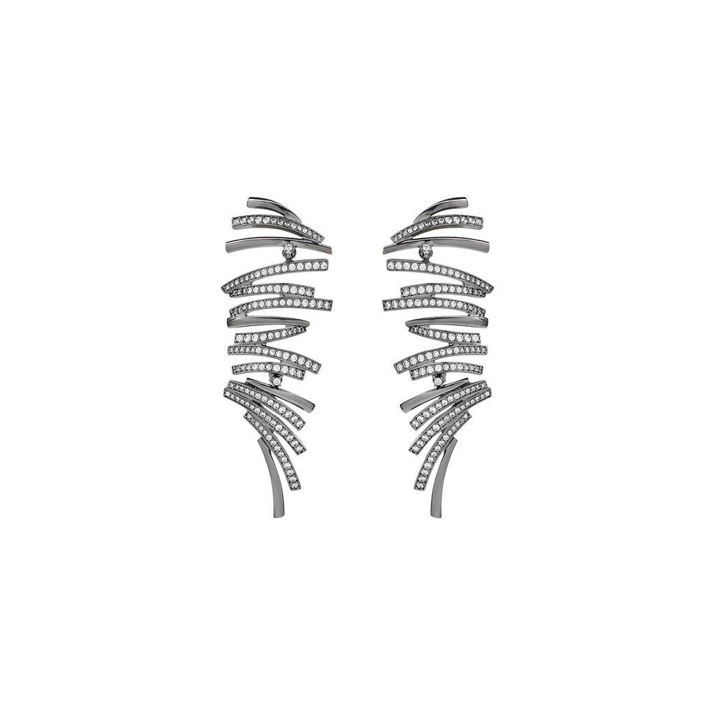 Mcristals Charlotte Earrings in Black Rhodium