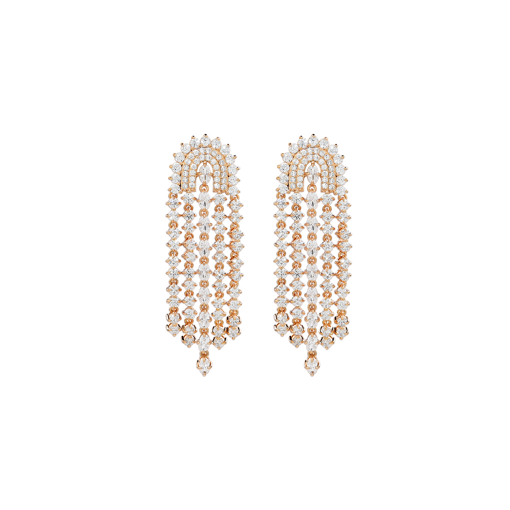 Mcristals Gabriela Statement Earrings in Gold
