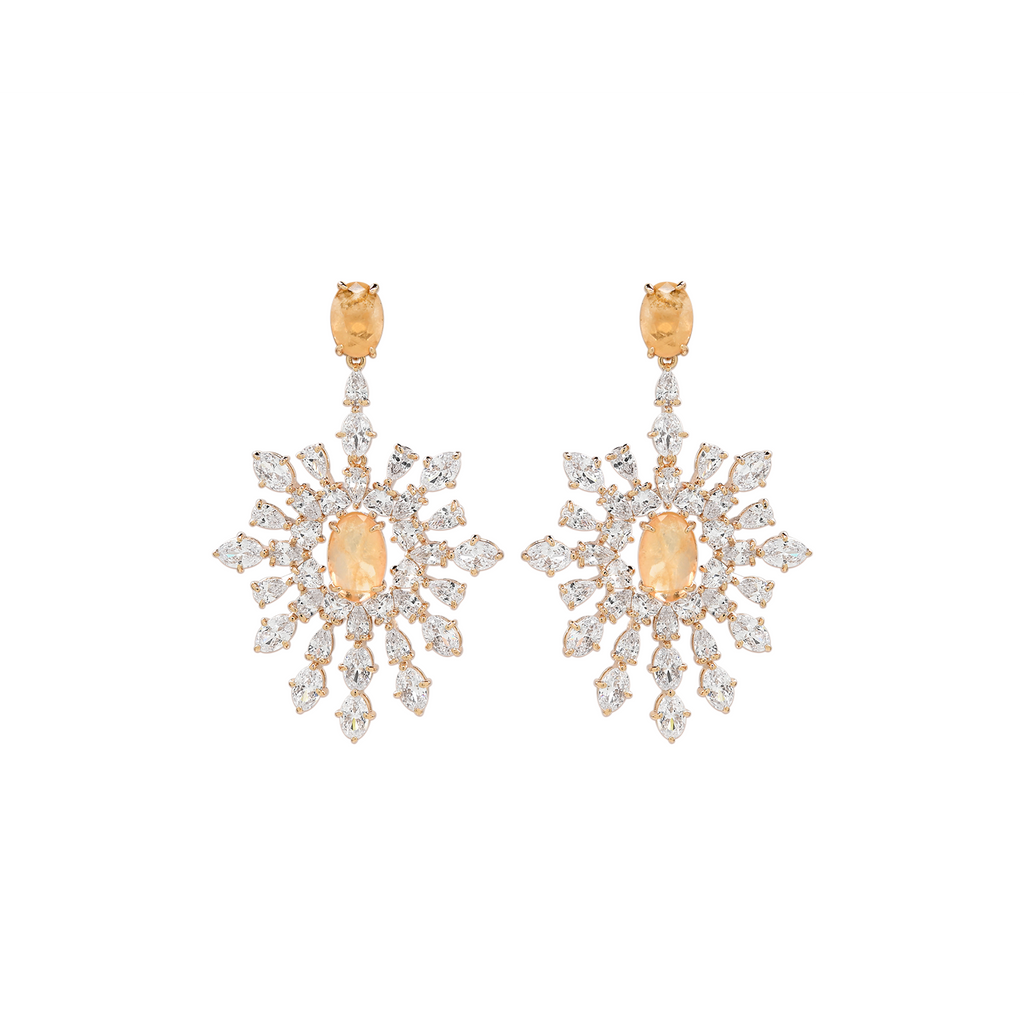 Mcristals laila Statement earrings gold