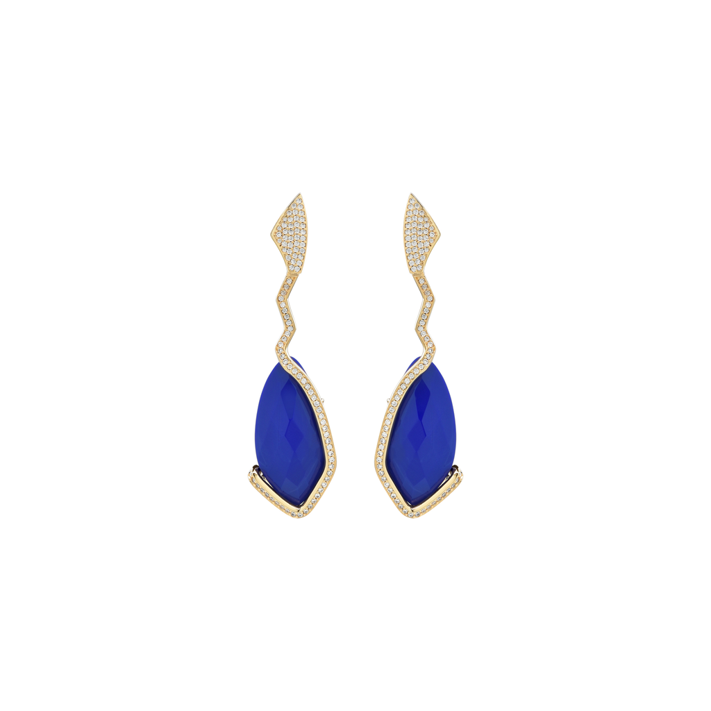 Mcristals Samantha Statement earrings in Blue