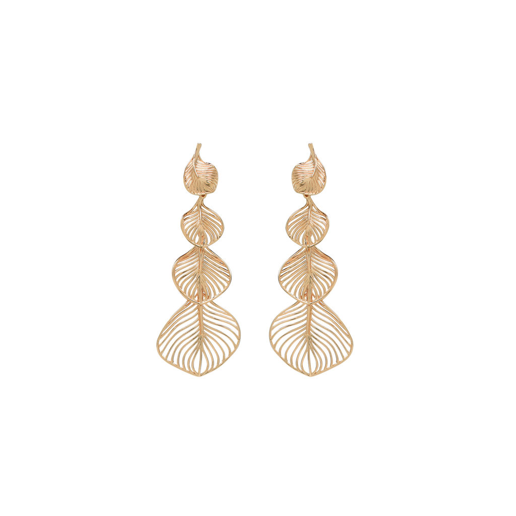 Gold Statement Earrings, Unique Statement earrings