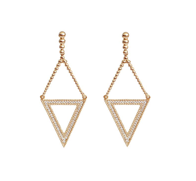Statement Earrings - Trianon Dangle