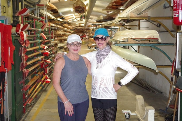 Debra Murray and Mary Frates traveled to Italy to row in the 43<sup>rd</sup> annual Vogalonga Regatta in Venice.