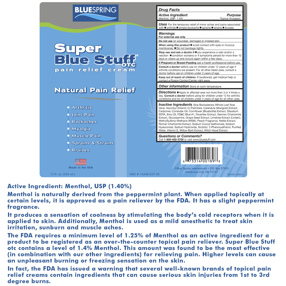 Super Blue Stuff OTC – Ingredients