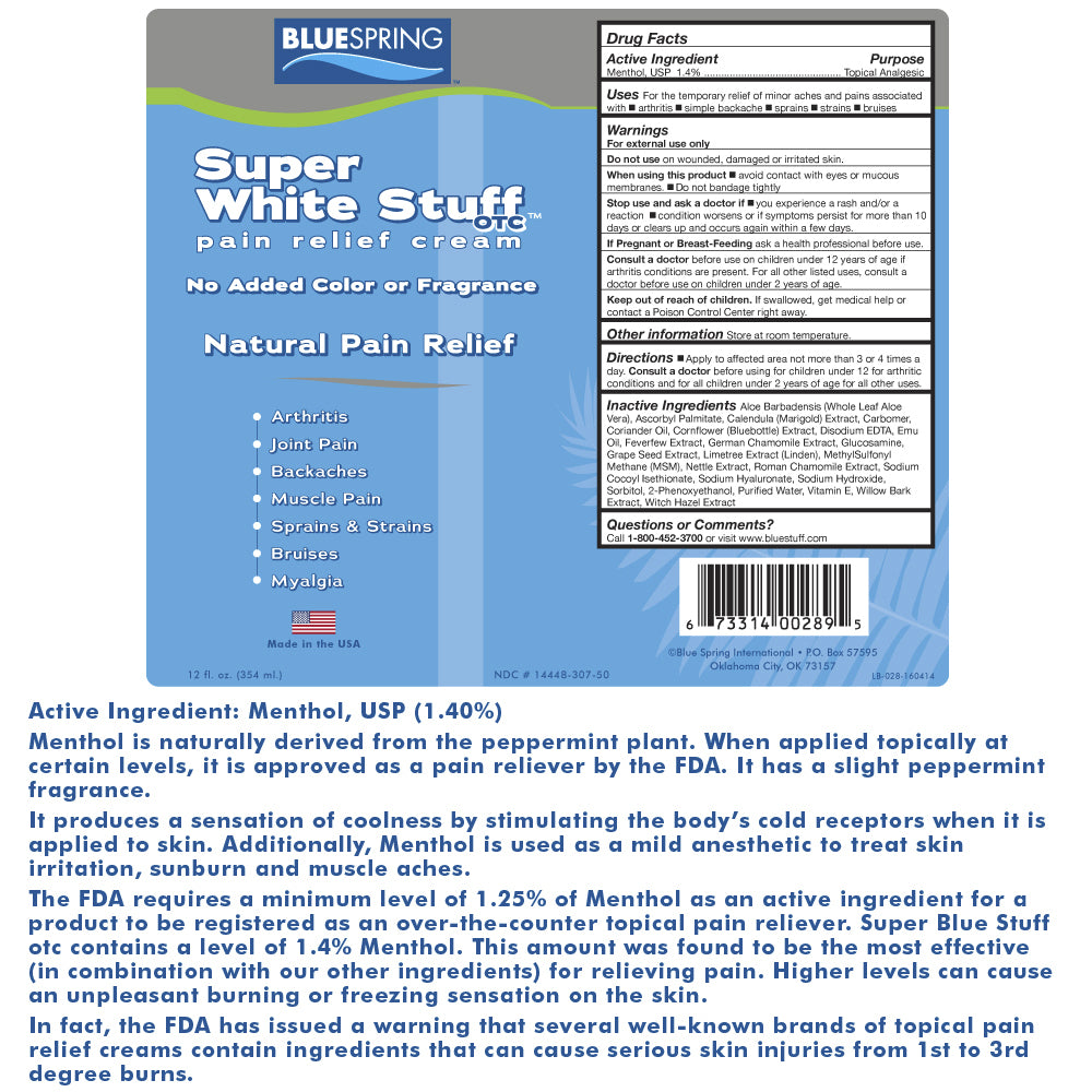 BLUESPRING Super White Stuff OTC - Pain Relief Cream