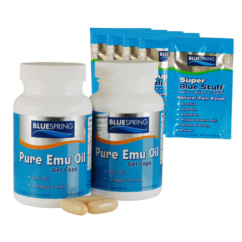 EMU-2524: Buy 1  Emu Oil Gel Cap Get 1 at Half Off Plus 5 Free SBS Travel Packs