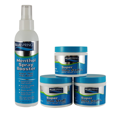 BST-2062: Buy 3 SBS 4 oz jars Plus 1 Menthol Spray Booster