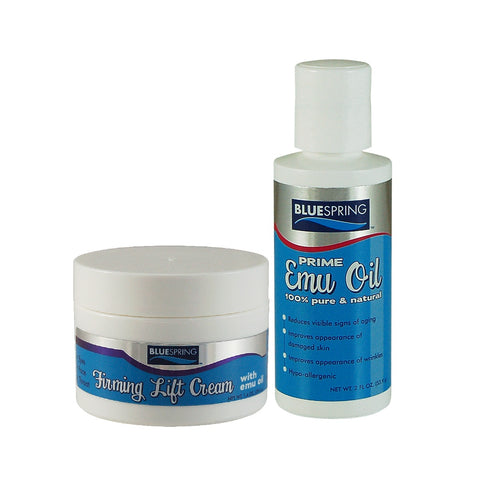 FAC-3079: Buy 1 Firming Lift Cream 1-oz. jar Plus 1 Pure Prime Emu Oil 2-oz. bottle