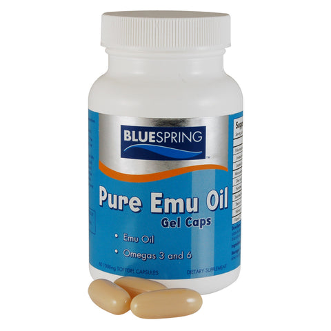 NS-105: Pure Emu Oil gel caps 60-ct 1000-mg gel cap bottle