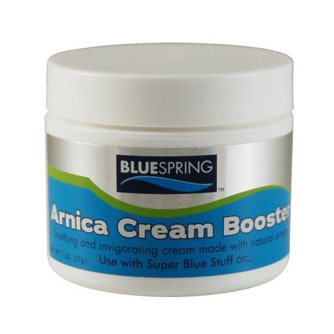 arnica cream, blue spring, pain relief, super blue stuff, soothing, cream, pain relief  cream, pain relief booster
