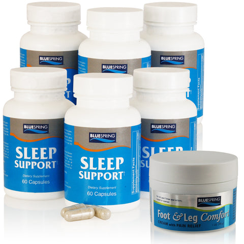 SLE-2152: Buy 3 Sleep Support Get 3 Free Plus 3 Free 1-oz. Foot & Leg Comfort
