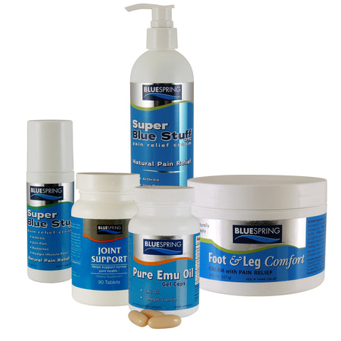 SBS-2550: Buy 1 SBS 12-oz Bottle, 1 Joint Support Formula & 1 Emu Oil Gel Caps, Get 1 Free F&L 8-oz. Jar & 1 SBS 3-oz. Roll-on