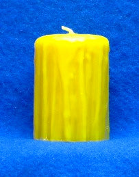 "Rustic Pillar Candle Mould 3.4"" x 3"""