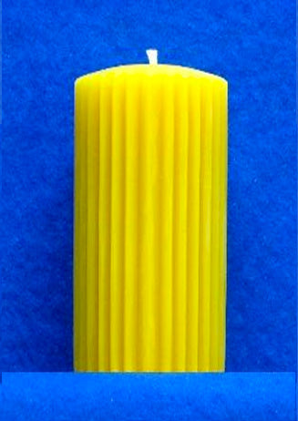 "Fluted Pillar Candle Mould 2.5"" x 5"""