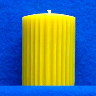 "Fluted Pillar Candle Mould 3"" x 4"""