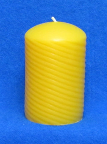 "Spiral Swirl Pillar Candle Mould 2 5/8"" x 4 1/4"""