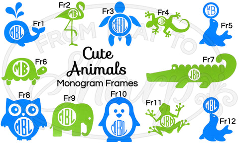 Monogram Frames - Animals