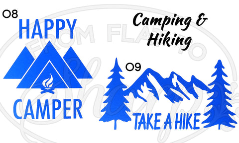 Camping & Hiking Decals