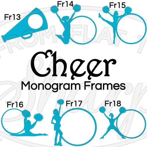 Monogram Frames - Cheer