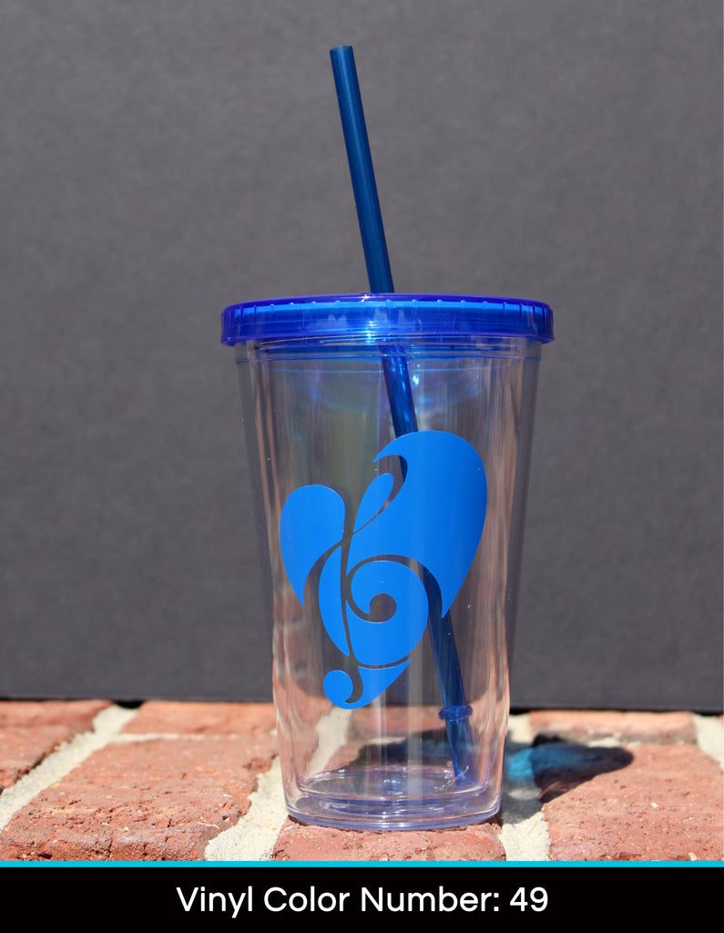 Acrylic Tumbler - Music Decal