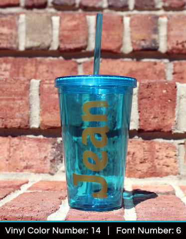Acrylic Tumbler - Solid Color - Name