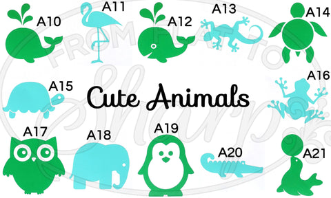 Cute Animal Vinyl Decals