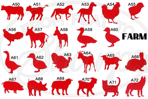 Farm Animal Decals